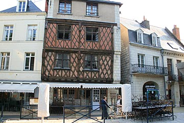 Medieval half timbered house in Saumur, France