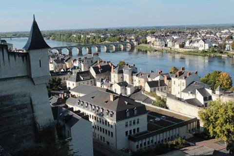View from Chateau Saumur