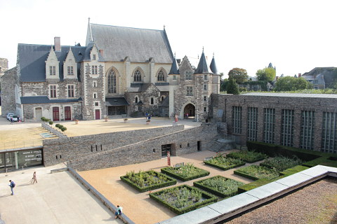 Inside Angers castle