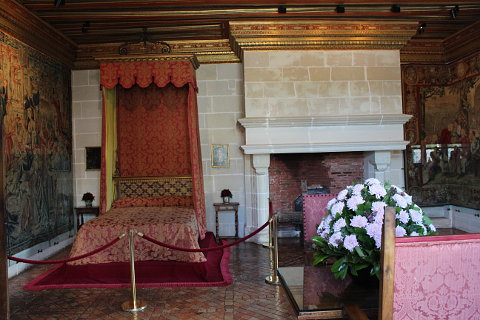 bedroom of Chateau Chenonceau